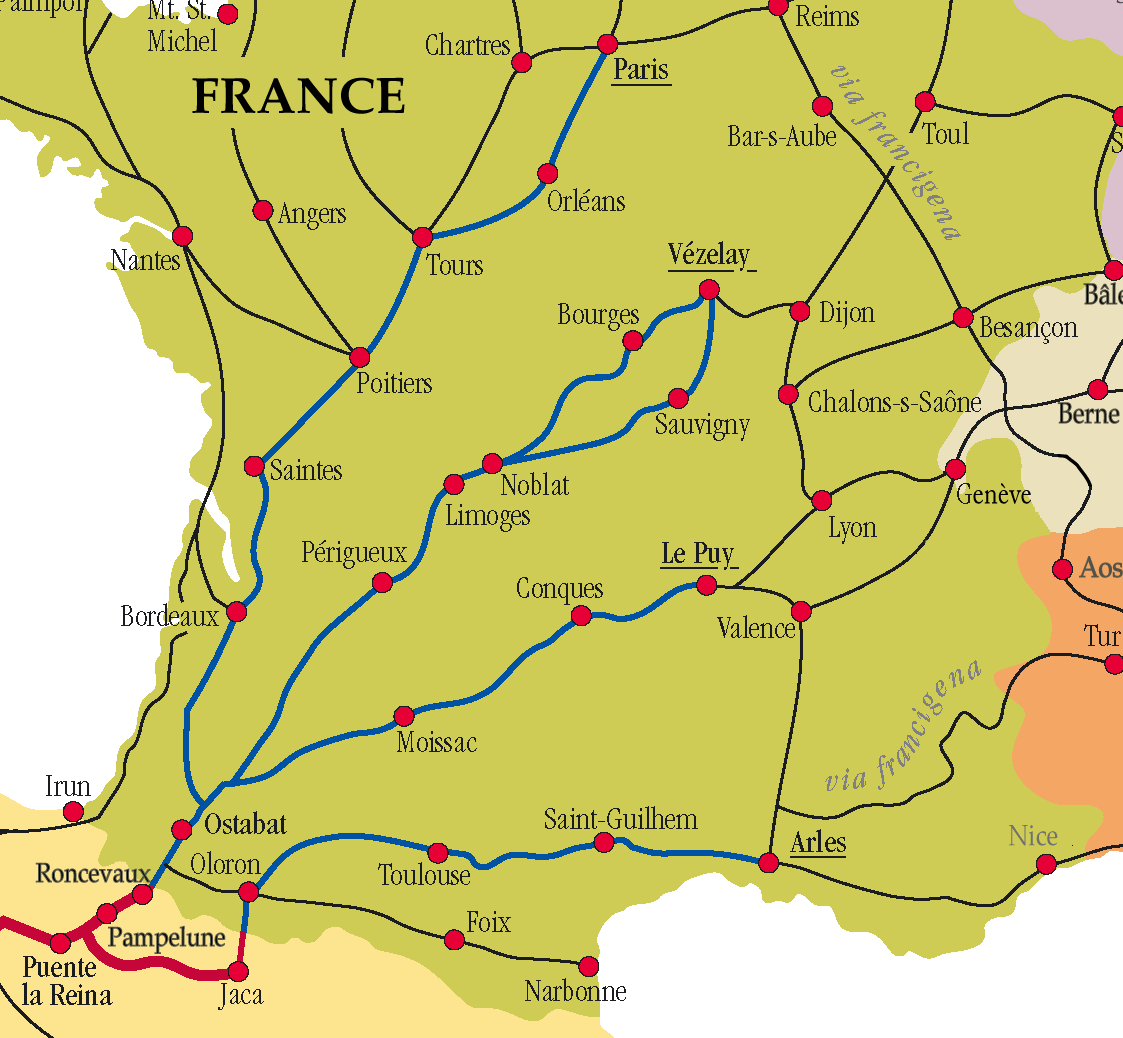French route map