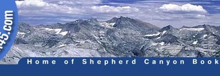 Sierra Nevada scene - location of the John Muir Trail and Pacific Crest TrailT
